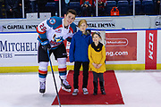KELOWNA, CANADA - FEBRUARY 08: First Star of the Game Nolan Foote #29 of the Kelowna Rockets at the Kelowna Rockets game on February 08, 2019 at Prospera Place in Kelowna, British Columbia, Canada. (Photo By Cindy Rogers/Nyasa Photography, *** Local Caption ***