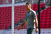 Leeds United midfielder Pablo Hernandez (19) arrives at the ground during the EFL Sky Bet Championship match between Stoke City and Leeds United at the Bet365 Stadium, Stoke-on-Trent, England on 24 August 2019.