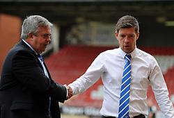 Bristol Rovers chairman , Nick Higgs with Bristol Rovers Manager Darrell Clarke - Mandatory byline: Neil Brookman/JMP - 07966386802 - 29/08/2015 - FOOTBALL - Matchroom Stadium -Leyton,England - Leyton Orient v Bristol Rovers - Sky Bet League Two