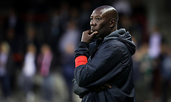 September 20, 2017 - Mouscron, BELGIUM - Tubize's head coach Sadio Demba looks dejected during a Croky Cup 1/16 final game between Excel Mouscron and AFC Tubize (1B), in Mouscron, Wednesday 20 September 2017. BELGA PHOTO VIRGINIE LEFOUR (Credit Image: © Virginie Lefour/Belga via ZUMA Press)