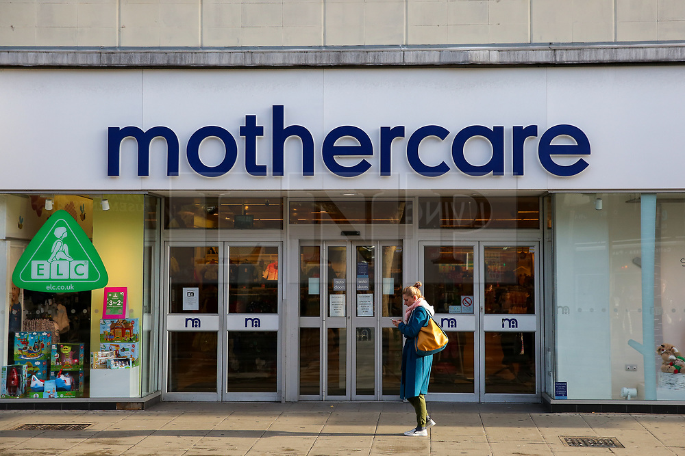 © Licensed to London News Pictures. 04/11/2019. London, UK. A shopper walks past Mothercare branch on Wood Green High Road in north London. <br /> Mothercare - the mother-and-baby retailer and an Early Learning Centre is to appoint administrators for its 79 UK high street stores following lost of £36.3m last year and putting 2,500 jobs at risk. Photo credit: Dinendra Haria/LNP