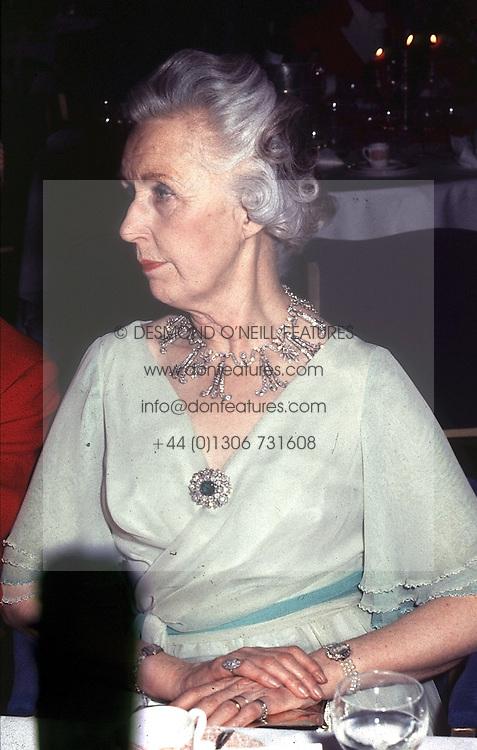 LADY ANNE CAVENDISH-BENTINCK in 1983.