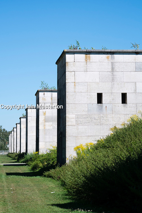 The former Nazi party rally gounds at Zeppelinfeld in Nuremberg in Bavaria Germany