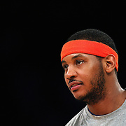 Carmelo Anthony, New York Knicks, during the New York Knicks vs Milwaukee Bucks, NBA Basketball game at Madison Square Garden, New York. USA. 15th March 2014. Photo Tim Clayton