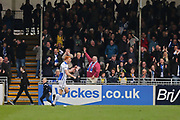 Bristol Rovers Rory Gaffney (30) scores and celebrates his goal 2-0 first half during the EFL Sky Bet League 1 match between Bristol Rovers and Southend United at the Memorial Stadium, Bristol, England on 11 March 2017. Photo by Gary Learmonth.