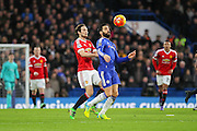 Chelsea's Cesc Fabregas controls the ball during the Barclays Premier League match between Chelsea and Manchester United at Stamford Bridge, London, England on 7 February 2016. Photo by Phil Duncan.