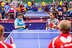 (Team THA) JAION Wijittra and OLUK Irem in action during 15th Slovenia Open - Thermana Lasko 2018 Table Tennis for the Disabled, on May 11, 2018 in Dvorana Tri Lilije, Lasko, Slovenia. Photo by Ziga Zupan / Sportida