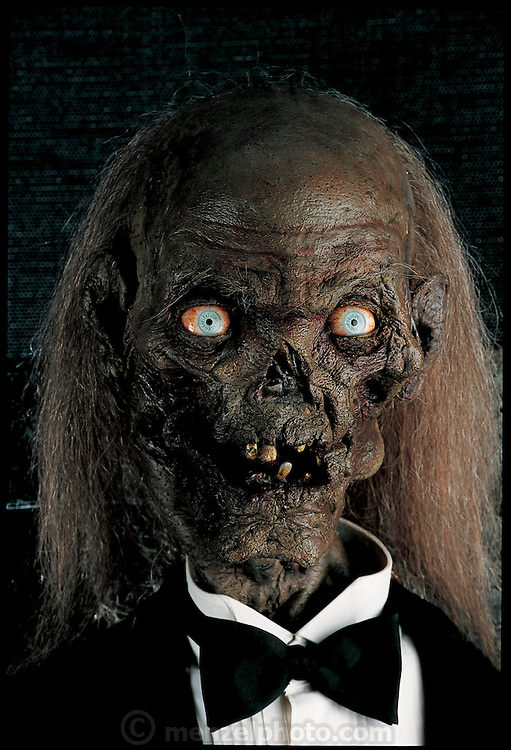 The ghoulish host for Secrets of the Crypt Keeper's Haunted House, a Saturday-morning television show for kids, is an animatronic; that is, lifelike electronic-robot. Built by AVG, of Chatsworth, California, the Crypt Keeper can show almost every human expression, although it must first be programmed to do so. Larger gestures of head and hand are created not by programming, but by electronically linking the robotic figure to an actor. From the book Robo sapiens: Evolution of a New Species, page 206.