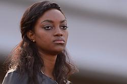 31-07-2015 NED: Asics NK Atletiek, Amsterdam<br /> Nk outdoor atletiek in het Olympische stadion Amsterdam /  Vriendin van Liemarvin Bonevacia die de 400 meter wint