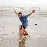 NLD/IJmuiden/20060621 - Skinnydip 2006 radio omroep Caz met Timur Perlin en Jeroen Kijk in de Vegt