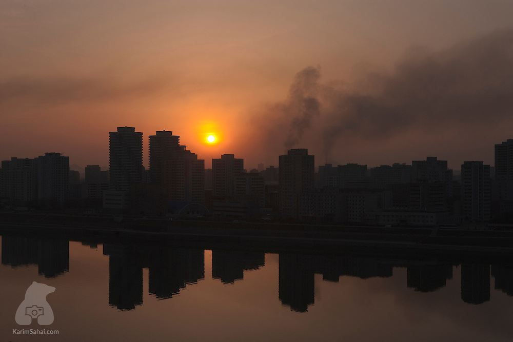 Pyongyang Skyline at Sunset, North Korea