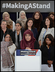 ©Licensed to i-Images Picture Agency. 24/09/2014. London, United Kingdom. The launch of #makingastand-British Muslim Women New Campaign Against ISIS at Rusia, London. Picture by Andrew Parsons / i-Images
