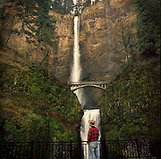 Multnomah Falls in the Columbia Gorge Nat'l Scenic Area near Portland Oreogn
