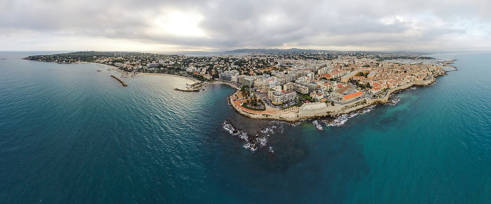 Aerial panorama of Antibes, France, taken with DJI Phantom 2 quadcopter