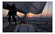 The Clipper Around the World Race 2000..During three weeks training in sailing offshore, motivated novices from all walks of life prepare to circumnavigate the globe...Marc Turner / PFM.www.pfmpictures.co.uk
