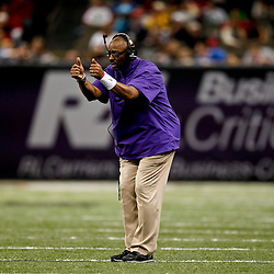 December 22, 2012; New Orleans, LA, USA; East Carolina Pirates head coach Ruffin McNeill against the Louisiana-Lafayette Ragin Cajuns during the second quarter of the New Orleans Bowl at the Mercedes-Benz Superdome. Mandatory Credit: Derick E. Hingle-USA TODAY Sports