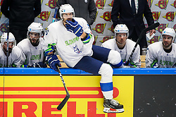 Blaz Gregorc of Slovenia during ice hockey match between Belarus and Slovenia at IIHF World Championship DIV. I Group A Kazakhstan 2019, on May 2, 2019 in Barys Arena, Nur-Sultan, Kazakhstan. Photo by Matic Klansek Velej / Sportida