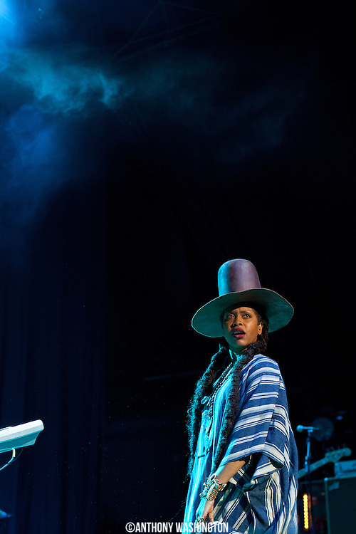Erykah Badu performs during the Summer Spirit Festival 2015 at Merriweather Post Pavilion in Columbia, MD on Saturday, August 8, 2015.