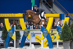 Petrovas Andrius (LTU) - Davino Q<br /> Final 6 years<br /> FEI World Breeding Jumping Championships for Young Horses - Lanaken 2014<br /> © Dirk Caremans