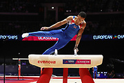 Joe Fraser (Great Britain) the pommel horser competition during the presentation of the teams during the European Championships Glasgow 2018, Team Men Final at The SSE Hydro in Glasgow, Great Britain, Day 10, on August 11, 2018 - Photo Laurent Lairys / ProSportsImages / DPPI
