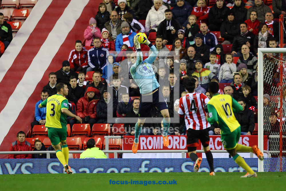 Picture by Paul Chesterton/Focus Images Ltd +44 7904 640267<br /> 21/12/2013<br /> John Ruddy of Norwich in action during the Barclays Premier League match at the Stadium Of Light, Sunderland.