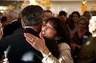 Cynthia Taylor hugs retiring Sheriff Bill Kolender