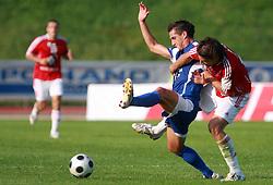 Blaz Brezovacki (20) of Nafta vs Ivan Jolic (12) of Interblock at 7th Round of PrvaLiga Telekom Slovenije between NK Interblock vs NK Nafta Lendava, on September , 2008, in ZAK stadium in Ljubljana, Slovenia. Interblock won the match 3:1. (Photo by Vid Ponikvar / Sportal Images)