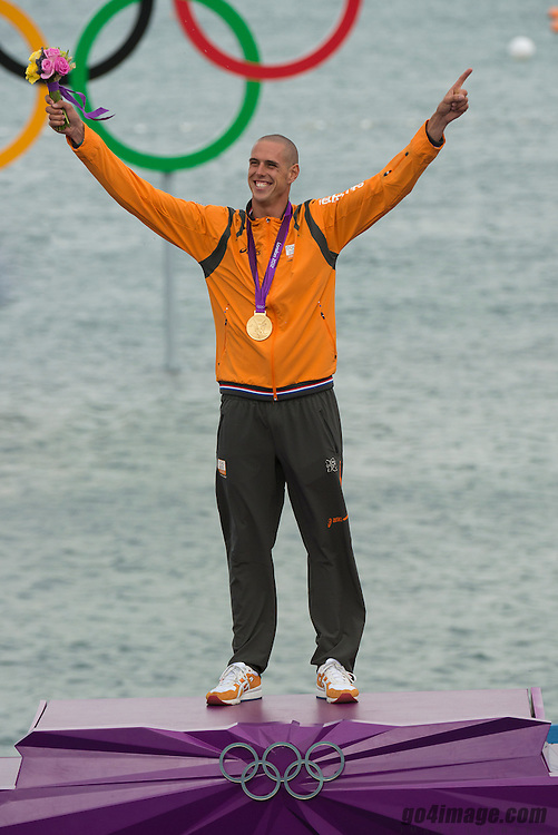 2012 Olympic Games London / Weymouth<br /> RSX Medal Ceremonies<br /> Van Rijsselberge Dorian, (NED, RS:X Men)