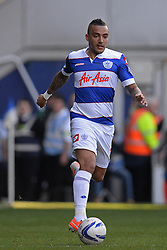QPR's defender Danny Simpson   - Photo mandatory by-line: Mitchell Gunn/JMP - Tel: Mobile: 07966 386802 29/03/2014 - SPORT - FOOTBALL - Loftus Road - London - Queens Park Rangers v Blackpool - Championship