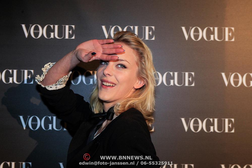 NLD/Amsterdam/20130314 - 1 jarig bestaan magazine Voque Nederland , Stacey Rookhuizen