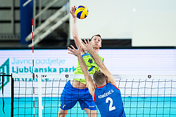 Toncek Stern of Slovenia during friendly volleyball match between Slovenia and Serbia in Arena Stozice on 2nd of September, 2019, Ljubljana, Slovenia. Photo by Grega Valancic / Sportida