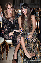 Millie Mackintosh and  Zara Martin at the Julien Macdonald show at London Fashion Week Autumn/Winter 2014/15, Saturday, 15th February 2014. Picture by Stephen Lock / i-Images