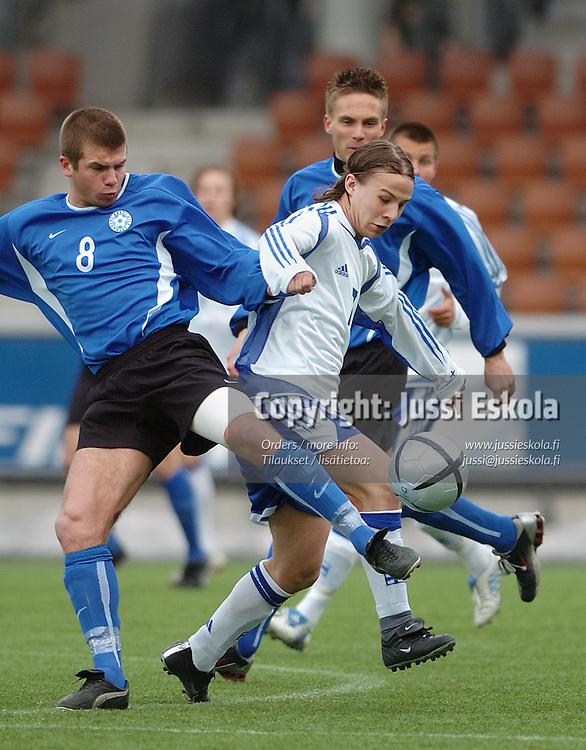 Jaakko Isteri.&#xA;U21, Suomi-Viro, Helsinki 13.4.2005.&#xA;Photo: Jussi Eskola<br />