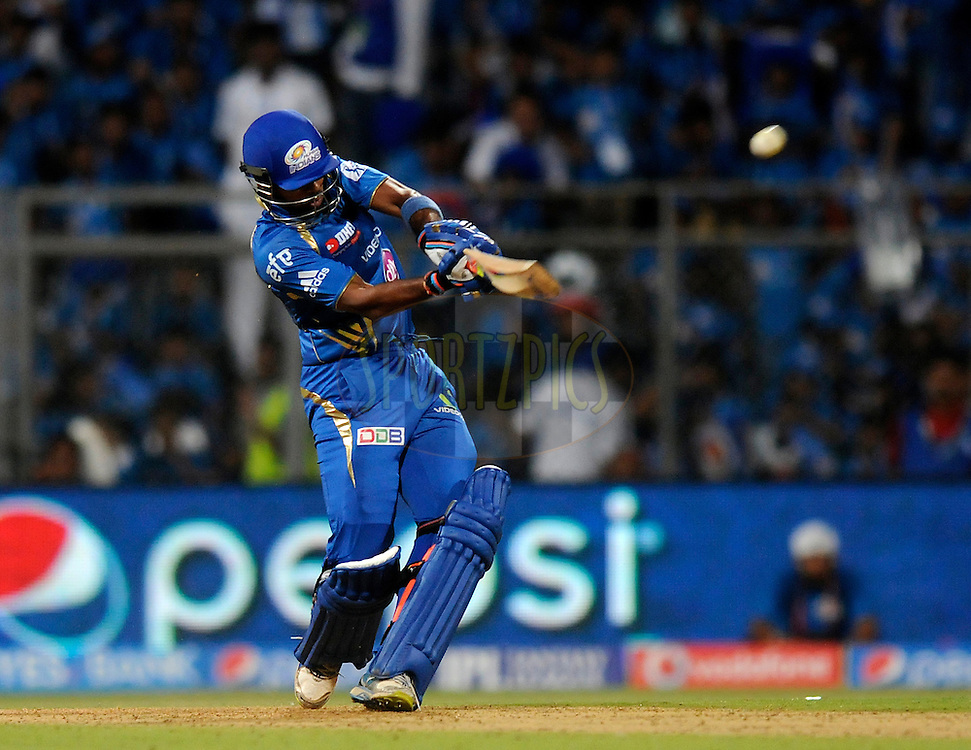Aditya Tare of the Mumbai Indians bats during match 22 of the Pepsi Indian Premier League Season 2014 between the Mumbai Indians and the Kings XI Punjab held at the Wankhede Cricket Stadium, Mumbai, India on the 3rd May  2014<br /> <br /> Photo by Pal Pillai / IPL / SPORTZPICS<br /> <br /> <br /> <br /> Image use subject to terms and conditions which can be found here:  http://sportzpics.photoshelter.com/gallery/Pepsi-IPL-Image-terms-and-conditions/G00004VW1IVJ.gB0/C0000TScjhBM6ikg