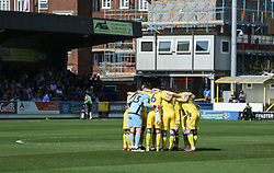 Bristol Rovers players huddle pre match - Mandatory by-line: Arron Gent/JMP - 19/04/2019 - FOOTBALL - Cherry Red Records Stadium - Kingston upon Thames, England - AFC Wimbledon v Bristol Rovers - Sky Bet League One