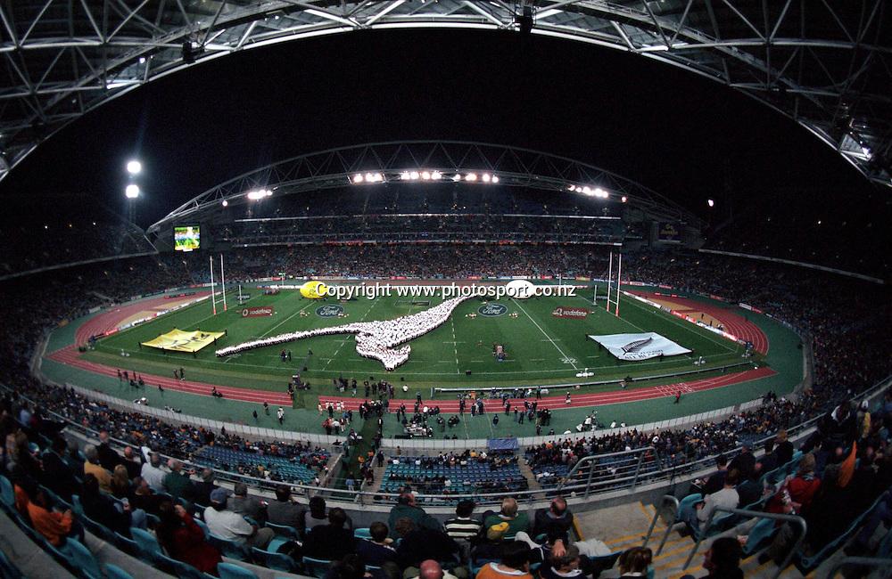 1999, Rugby Union, Bledisloe Cup, Australia vs All Blacks, Stadium Australia, Sydney, Australia.<br />Stadium Australia<br />Please credit: Photosport