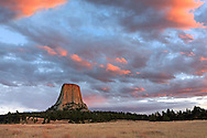 Scenic View of Devils Tower in Wyoming.