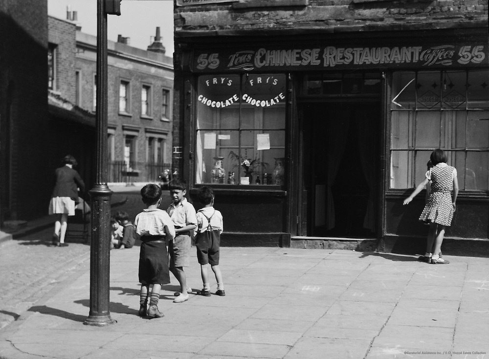 Chinese Restaurant, Limehouse, London, 1934