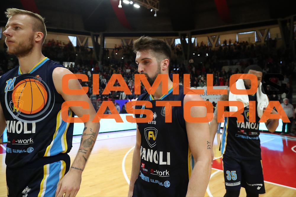 Jakub Wojciechowski Fabio Mian<br /> Openjobmetis Pallacanestro Varese - Vanoli Cremona<br /> Lega Basket Serie A 2016/2017<br /> Varese 30/04/2017<br /> Foto Ciamillo-Castoria