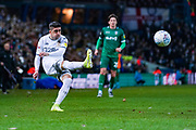 Leeds United midfielder Pablo Hernandez (19) passes the ball during the EFL Sky Bet Championship match between Leeds United and Sheffield Wednesday at Elland Road, Leeds, England on 11 January 2020.