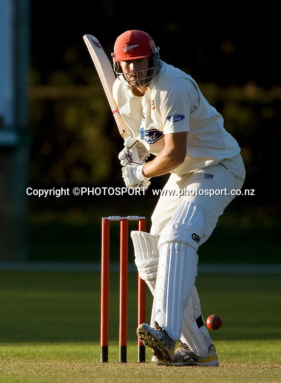 Canterbury batsman Peter Fulton during play on day two. Canterbury Wizards v Northern Knights, Plunket Shield Game held at Mainpower Oval, Rangiora, Tuesday 05 April 2011. Photo : Joseph Johnson / photosport.co.nz