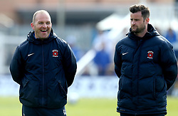 Hartlepool United manager Matthew Bates and Coach Ian Gallagher - Mandatory by-line: Robbie Stephenson/JMP - 06/05/2017 - FOOTBALL - The Northern Gas and Power Stadium (Victoria Park) - Hartlepool, England - Hartlepool United v Doncaster Rovers - Sky Bet League Two