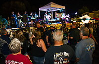 Bands took the stage during Biketemberfest Saturday night at Weirs Beach.  (Karen Bobotas/for the Laconia Daily Sun)