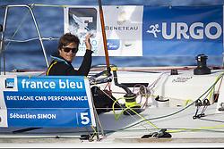 June 5, 2017 - EN MER - Sebastien Simon (Bretagne Credit Mutuel Performance) lors de la 1ere etape de la Solitaire Urgo Le Figaro 2017 entre Bordeaux et Gijon - Pauillac le 05/06/2017 (Credit Image: © Panoramic via ZUMA Press)
