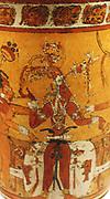Vessel with young corn god.  Guatemala; Maya.  8th-9th century.  Ceramic.