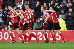 March 16, 2019 - Sunderland, Tyne and Wear, United Kingdom - Sunderland's Lee Cattermole celebrates scoring his side's first goal during the Sky Bet League 1 match between Sunderland and Walsall at the Stadium Of Light, Sunderland on Saturday 16th March 2019. (Credit: Steven Hadlow | MI News) (Credit Image: © Mi News/NurPhoto via ZUMA Press)