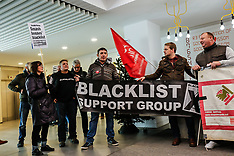 6 Dec 2017 - Blacklist protesters demonstrate inside the office of Skanska.