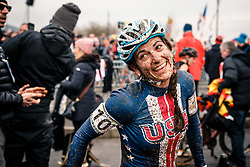 Courtenay MCFADDEN of USA after the Women Elite race, UCI Cyclo-cross World Championship at Bieles, Luxembourg, 28 January 2017. Photo by Pim Nijland / PelotonPhotos.com | All photos usage must carry mandatory copyright credit (Peloton Photos | Pim Nijland)