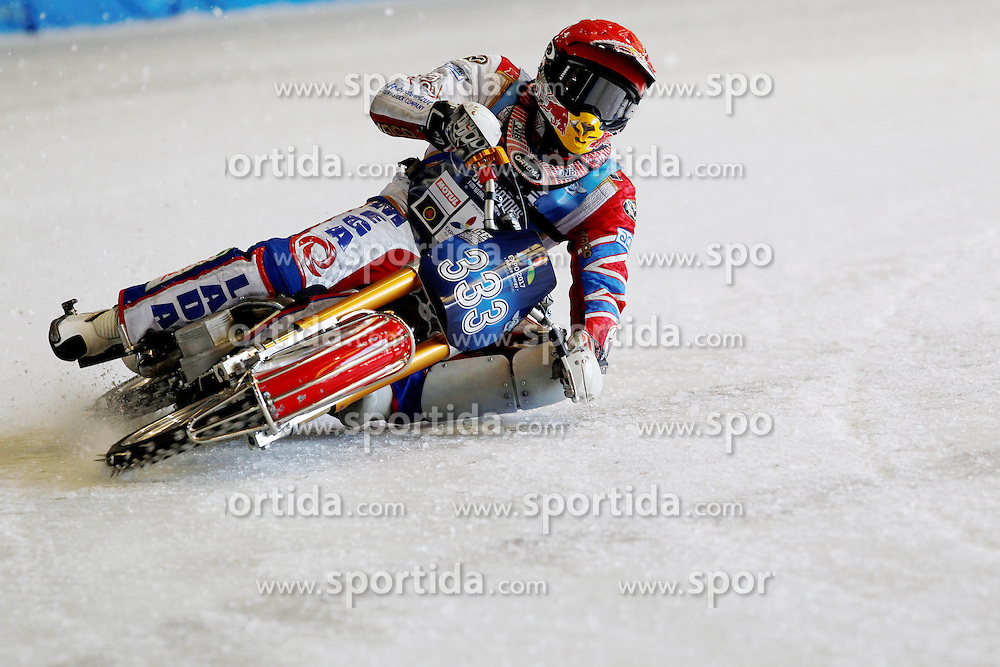 13.03.2016, Assen, BEL, FIM Eisspeedway Gladiators, Assen, im Bild Daniil Ivanov (RUS) // during the Astana Expo FIM Ice Speedway Gladiators World Championship in Assen, Belgium on 2016/03/13. EXPA Pictures &copy; 2016, PhotoCredit: EXPA/ Eibner-Pressefoto/ Stiefel<br /> <br /> *****ATTENTION - OUT of GER*****