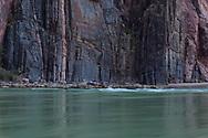 Grand Canyon National Park, South Rim, Vishnu Schist, Colorado River from Bright Angel Creek confluence, Arizona
